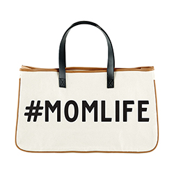 Canvas Tote - #Momlife