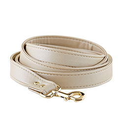 Saffiano Leash - Champagne