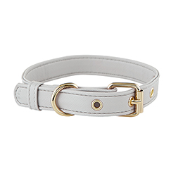 Saffiano Collar - Grey