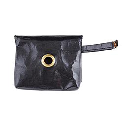 Washable Paper Waste Pouch - Metallic Black