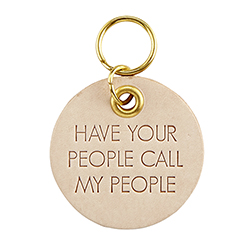Leather Pet Tag - Call My People