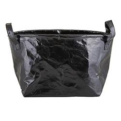Washable Paper Storage Tote - Metallic Black