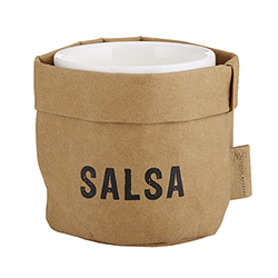 Salsa Holder & Ceramic Dish Set - Medium