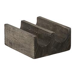 Paulownia Wood Double Taco Holder - Charcoal