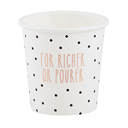 Paper Shot Cups - For Richer or Pourer
