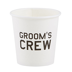 Paper Shot Cups - Groom's Crew