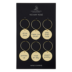 Wine Charm Set - Yes Way Rose