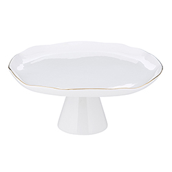 Pedestal Tray - Large - Gold