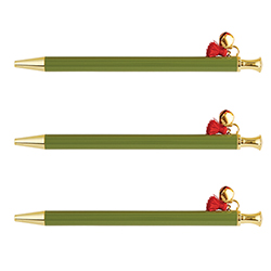 Holiday Tassel Pens - Green