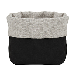 Linen Bread Pouch - Grey/Black