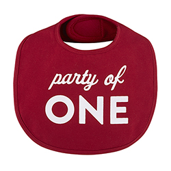 Veggie Bib - Party of One, 3-12 months
