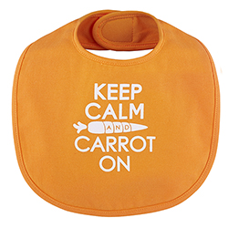 Veggie Bib - Keep Calm & Carrot On, 3-12 months