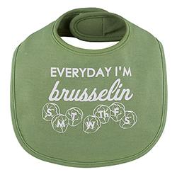 Veggie Bib - Everyday I'm Brusselin, 3-12 months