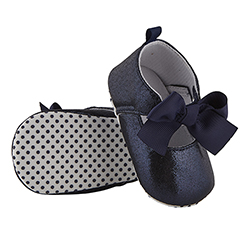 Metallic Shoes - Navy, 6-12 months