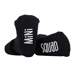 Socks - Mini Squad - Black, 3-12 months
