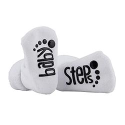 Socks - Baby Steps - White, 3-12 months