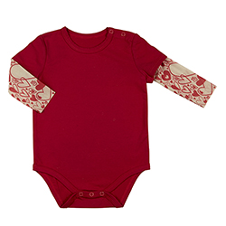 Tattoo Snapshirt - Hearts, 6-12 months