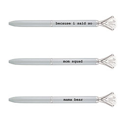 Gem Pens - Mom, Grey
