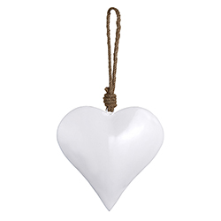 Enamel - White Heart