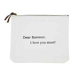 Face to Face Canvas Zip Pouch - Dear Summer, I Love You The Most