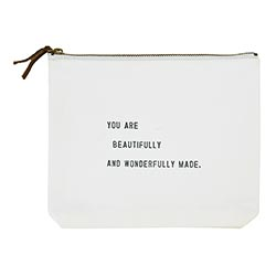 Face to Face Canvas Zip Pouch - You Are Beautifully And Wonderfully Made
