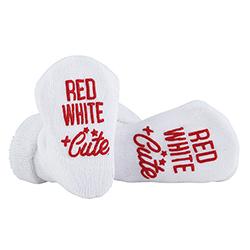 Socks - Red, White + Cute