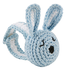 Crochet Wristlet - Blue Bunny