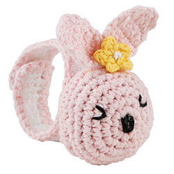 Crochet Wristlet - Pink Bunny
