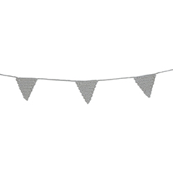 Crochet Garland - Grey Triangle