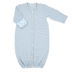 Gown - Blue Geo Stripe