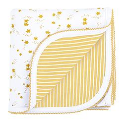 Reversible Blanket - Gold Star Stripe