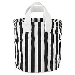 Medium Canvas Organizers - Black + White Stripe