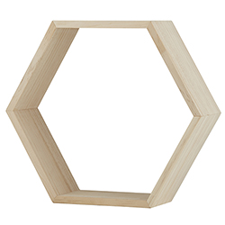 Wood Shelf - Hexagon