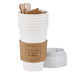 Face to Face Paper Cup Set of 6 - It's Too Early For You To Say Things