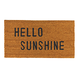 Face to Face Door Mat - Hello Sunshine