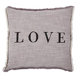 Face to Face Square Sofa Pillow - LOVE