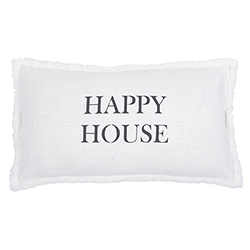 Face to Face Rectangle Sofa Pillow - Happy House