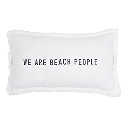 Face to Face Rectangle Sofa Pillow - We Are Beach People