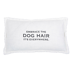 Face to Face Rectangle Sofa Pillow - Embrace The Dog Hair