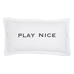 Face to Face Rectangle Sofa Pillow - Play Nice