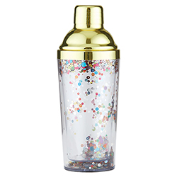 Cocktail Shaker - Gold Confetti