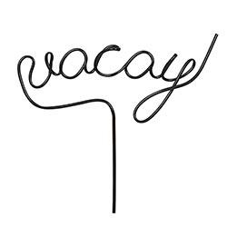 Word Straw - Vacay