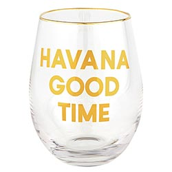 Wine Glass - Havana Good Time