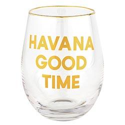 Wine Glass - Havana Good Time