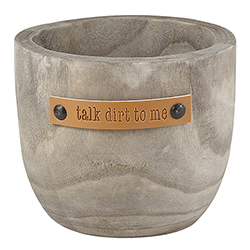 Wood Planter - Talk Dirt To Me