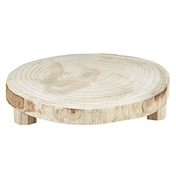 Medium Wood Riser - Natural Paulownia Wood