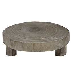 Small Wood Riser - Grey Paulownia Wood