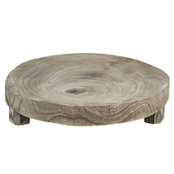 Medium Wood Riser - Grey Paulownia Wood