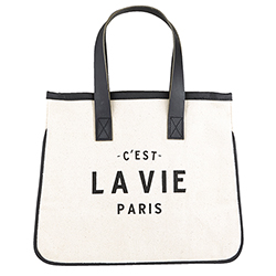Mini Canvas Tote - Paris