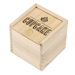 Small Sweets Wood Box - Hey Cupcake